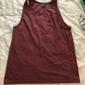 Men's maroon Volcom tank top. Size M.